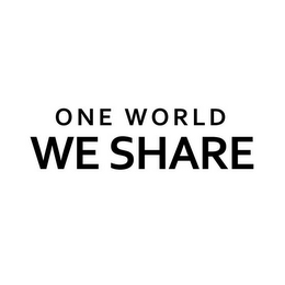 mark for ONE WORLD WE SHARE, trademark #85261606