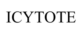 mark for ICYTOTE, trademark #85261681