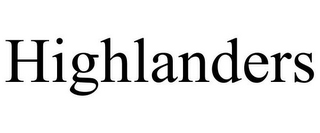 mark for HIGHLANDERS, trademark #85264043