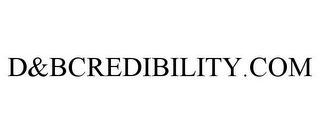mark for D&BCREDIBILITY.COM, trademark #85267482