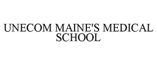 mark for UNECOM MAINE'S MEDICAL SCHOOL, trademark #85268056