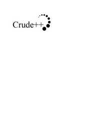 mark for CRUDE++, trademark #85270992