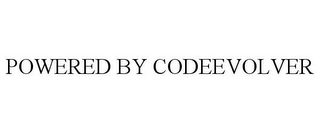 mark for POWERED BY CODEEVOLVER, trademark #85271920