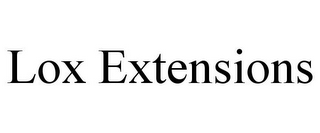 mark for LOX EXTENSIONS, trademark #85272840