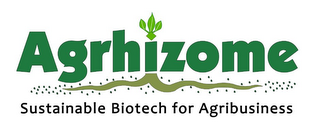 mark for AGRHIZOME SUSTAINABLE BIOTECH FOR AGRIBUSINESS, trademark #85273639