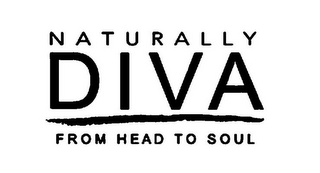 mark for NATURALLY DIVA FROM HEAD TO SOUL, trademark #85276689