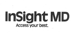 mark for INSIGHT MD ACCESS YOUR BEST., trademark #85278072