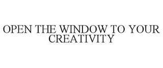 mark for OPEN THE WINDOW TO YOUR CREATIVITY, trademark #85278571