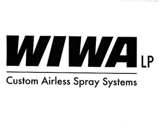 mark for WIWA LP CUSTOM AIRLESS SPRAY SYSTEMS, trademark #85279547