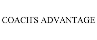 mark for COACH'S ADVANTAGE, trademark #85280548