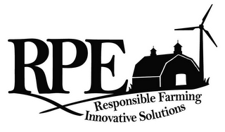 mark for RPE RESPONSIBLE FARMING INNOVATIVE SOLUTIONS, trademark #85281520