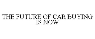 mark for THE FUTURE OF CAR BUYING IS NOW, trademark #85282618