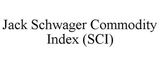 mark for JACK SCHWAGER COMMODITY INDEX (SCI), trademark #85283114