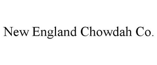 mark for NEW ENGLAND CHOWDAH CO., trademark #85285410
