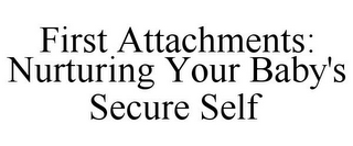 mark for FIRST ATTACHMENTS: NURTURING YOUR BABY'S SECURE SELF, trademark #85285783