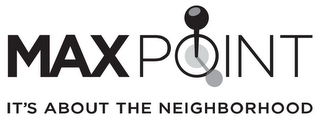 mark for MAXPOINT IT'S ABOUT THE NEIGHBORHOOD, trademark #85288725