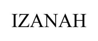 mark for IZANAH, trademark #85289300