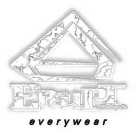 mark for E ERUPT EVERYWEAR CLOTHING CO., trademark #85290211