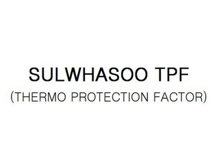 mark for SULWHASOO TPF (THERMO PROTECTION FACTOR), trademark #85291111