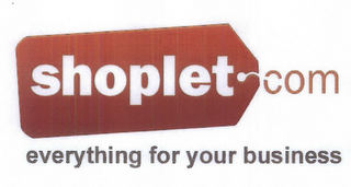 mark for SHOPLET.COM EVERYTHING FOR YOUR BUSINESS, trademark #85291917
