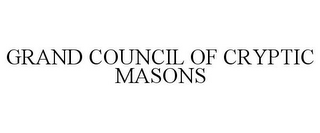 mark for GRAND COUNCIL OF CRYPTIC MASONS, trademark #85293907