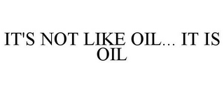 mark for IT'S NOT LIKE OIL... IT IS OIL, trademark #85295400