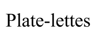 mark for PLATE-LETTES, trademark #85295526
