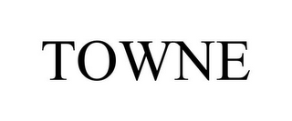 mark for TOWNE, trademark #85295720