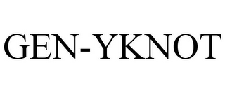 mark for GEN-YKNOT, trademark #85296687