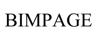 mark for BIMPAGE, trademark #85297320