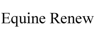 mark for EQUINE RENEW, trademark #85299328