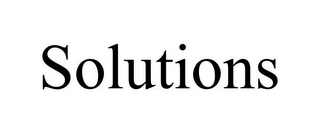 mark for SOLUTIONS, trademark #85300093
