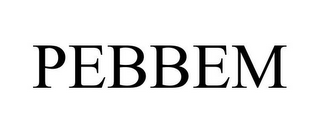 mark for PEBBEM, trademark #85301236
