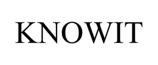 mark for KNOWIT, trademark #85303274