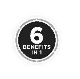 mark for 6 BENEFITS IN 1, trademark #85303286