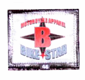 mark for MOTOR CYCLE APPAREL B BIKE STAR, trademark #85304245