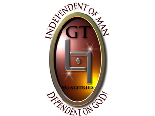 mark for INDEPENDENT OF MAN GT L7 MINISTRIES DEPENDENT ON GOD!, trademark #85304501