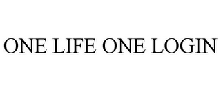 mark for ONE LIFE ONE LOGIN, trademark #85304703