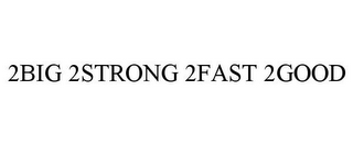mark for 2BIG 2STRONG 2FAST 2GOOD, trademark #85305329