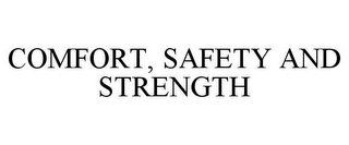 mark for COMFORT, SAFETY AND STRENGTH, trademark #85311385