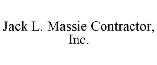 mark for JACK L. MASSIE CONTRACTOR, INC., trademark #85312195