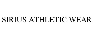 mark for SIRIUS ATHLETIC WEAR, trademark #85314683