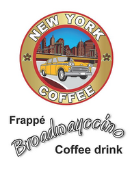 mark for NEW YORK COFFEE FRAPPÉ BROADWAYCCINO COFFEE DRINK, trademark #85314885