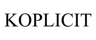 mark for KOPLICIT, trademark #85315650