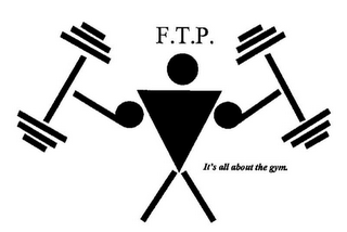 mark for F.T.P. IT'S ALL ABOUT THE GYM., trademark #85318466