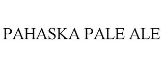 mark for PAHASKA PALE ALE, trademark #85319089