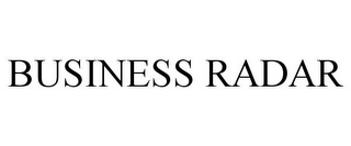 mark for BUSINESS RADAR, trademark #85319106
