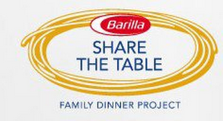 mark for BARILLA SHARE THE TABLE FAMILY DINNER PROJECT, trademark #85319160