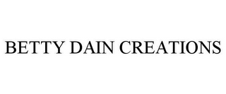 mark for BETTY DAIN CREATIONS, trademark #85319572