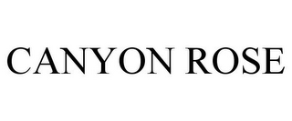 mark for CANYON ROSE, trademark #85319693